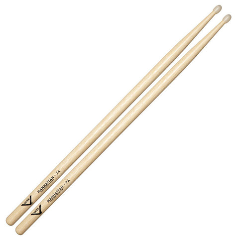 Vater Hickory Manhattan 7A Nylon Tip Drumsticks