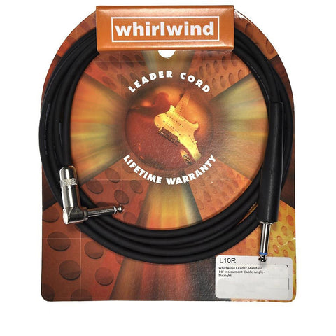Whirlwind Leader Standard 10' Instrument Cable Angle/Straight