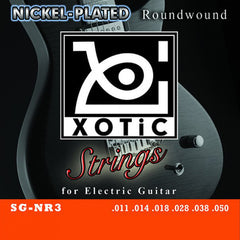 Xotic SG-NR3 Nickel-Plated Roundwound Electric Guitar Strings 11-50