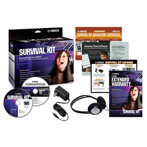 Yamaha SKC Electronic Survival Kit w/ headphones and power adapter