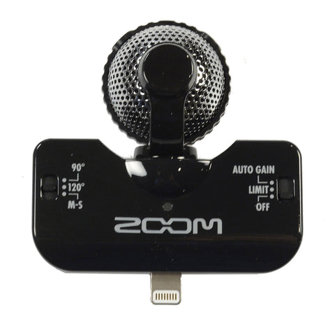 Zoom iQ5 Lightning Stereo Microphone Black for iOS