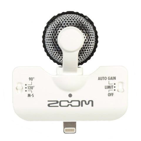 Zoom iQ5 Lightning Stereo Microphone White for iOS