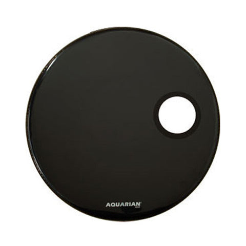 Aquarian 20 Inch Regulator with 4 3/4 hole Black Drum Head