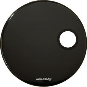 Aquarian 22 Inch Regulator with 4 3/4 hole Black Drum Head