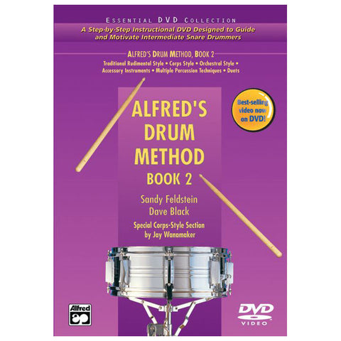 Alfred's Drum Method, Book 2 and DVD