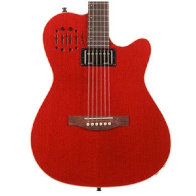 Godin A6 Ultra Hybrid Electro-Acoustic Trans Red High-Gloss w/Deluxe Gig Bag