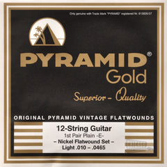 Pyramid Gold 12 Light Electric Guitar Strings 10-465
