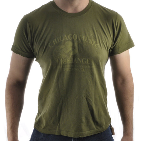 CME Guitar Logo T-Shirt Short Sleeve Army Green