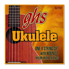 GHS HT-10 Hawaiian Ukulele Strings Tenor Black Nylon w/Wound 3rd