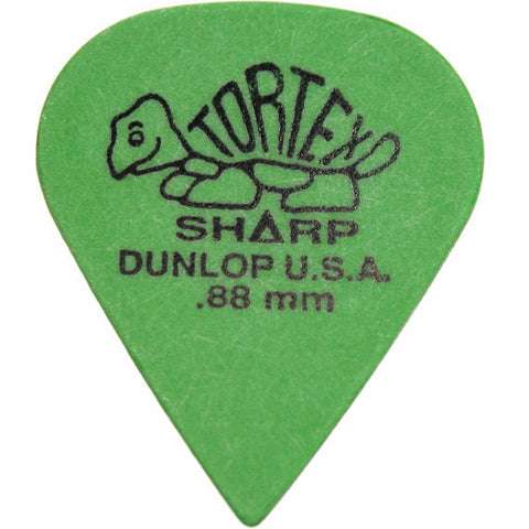 Dunlop Tortex Sharp Guitar Picks .88mm (12)