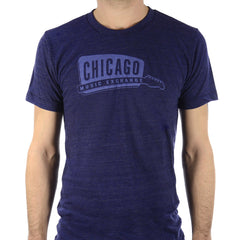 Chicago Music Exchange Classic Logo T-Shirt Tri-Indigo