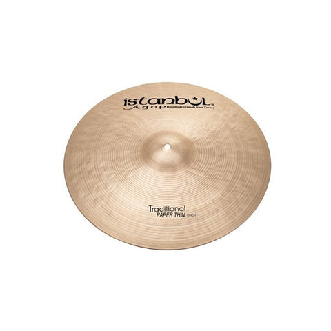 Istanbul Agop 17 Inch Traditional Paper Thin Crash Cymbal ISPTC17