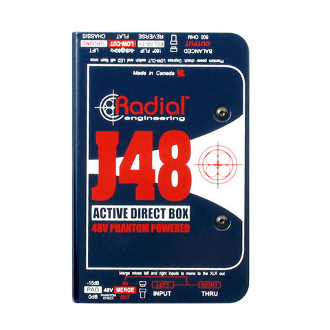 Radial J48 MK2 Phantom Power Active Direct Box