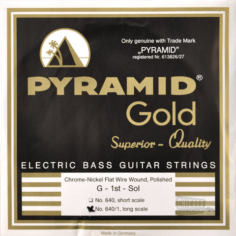 Pyramid Gold Flatwound Long Scale Bass Guitar Strings 40-105