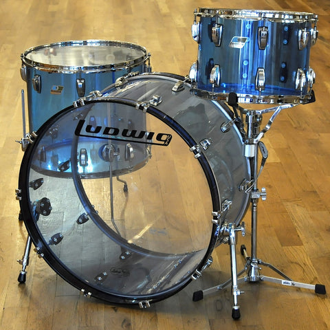 Ludwig Vistalite 14/18/26 3pc Drum Kit Blue Acrylic