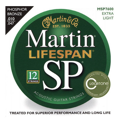 Martin SP Lifespan 92/8 Phoshor Bronze 12-String Extra Light 10-47