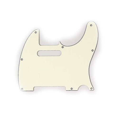 Allparts Telecaster Pickguard 3-Ply - Vintage Cream