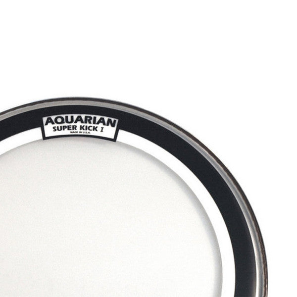 aquarian 24 inch super kick i clear single ply bass drum head chicago music exchange. Black Bedroom Furniture Sets. Home Design Ideas