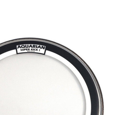 Aquarian 24 Inch Super Kick I Clear Single Ply Bass Drum Head