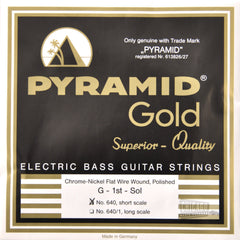 Pyramid Gold Flatwound Short Scale Bass Guitar Strings 40-100