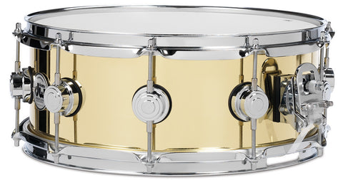 DW 6.5X14 Smooth Brass Snare Drum