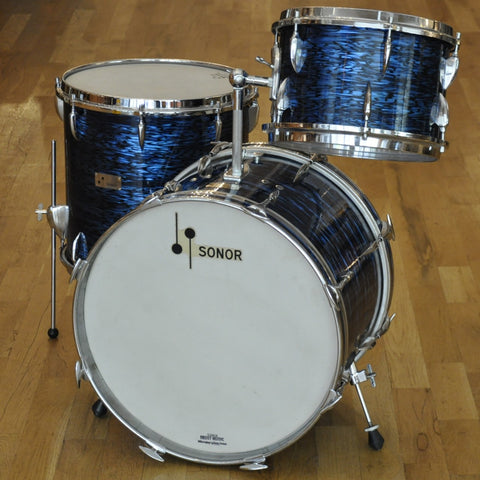 Sonor 13/16/20 3pc 'Chicago' Outfit Blue Marble Mid 60s