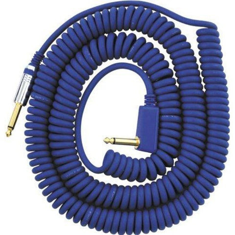 Vox Premium Vintage Coiled Guitar Cable 9m - Blue