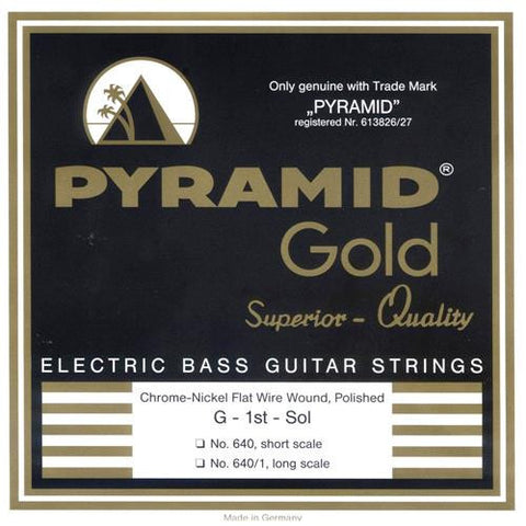 pyramid gold flatwound long scale 5 string bass strings 40 120 chicago music exchange. Black Bedroom Furniture Sets. Home Design Ideas