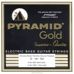 Pyramid Gold Flatwound Long Scale 5 String Bass Strings 40-120