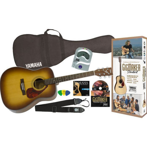 Yamaha GigMaker Standard Acoustic Package w/F325 Guitar Tobacco Sunburst