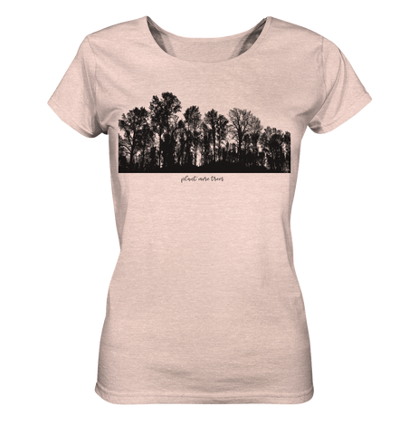 Plant Trees - Ladies Organic Shirt (meliert)