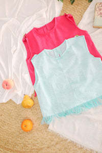 Cotton Candy Semi- Cropped Top