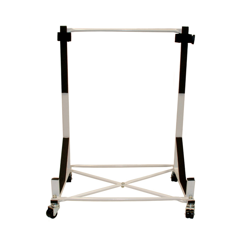 Heavy-duty Hardtop Stand Trolley Cart Rack (White) with Securing Harness and Hard Top Dust Cover (050)