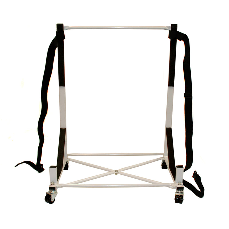 Heavy-duty Hardtop Stand Storage Cart (White( with Securing Harness - FACTORY SECOND (050x)