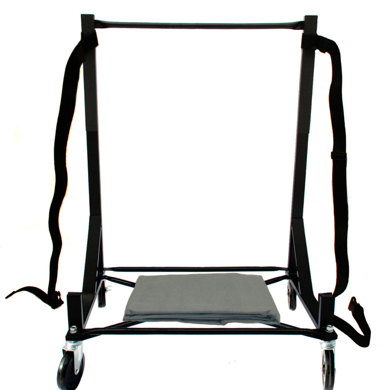 "Austin Healey Heavy-duty Hardtop Stand Trolley Cart Rack (Black) with 5"" castors, Securing Harness and Hard Top Dust Cover (050Bc)"