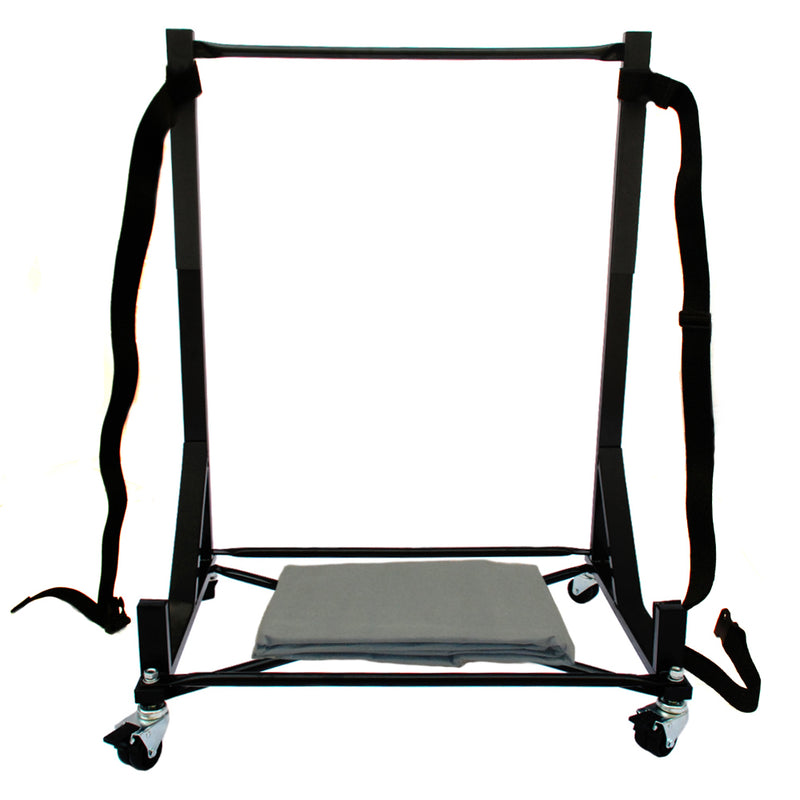Triumph TR2 TR3 TR4 TR250 TR7 Heavy-duty Hardtop Stand Trolley Cart Rack (Black) with Securing Harness and Hard Top Dust Cover
