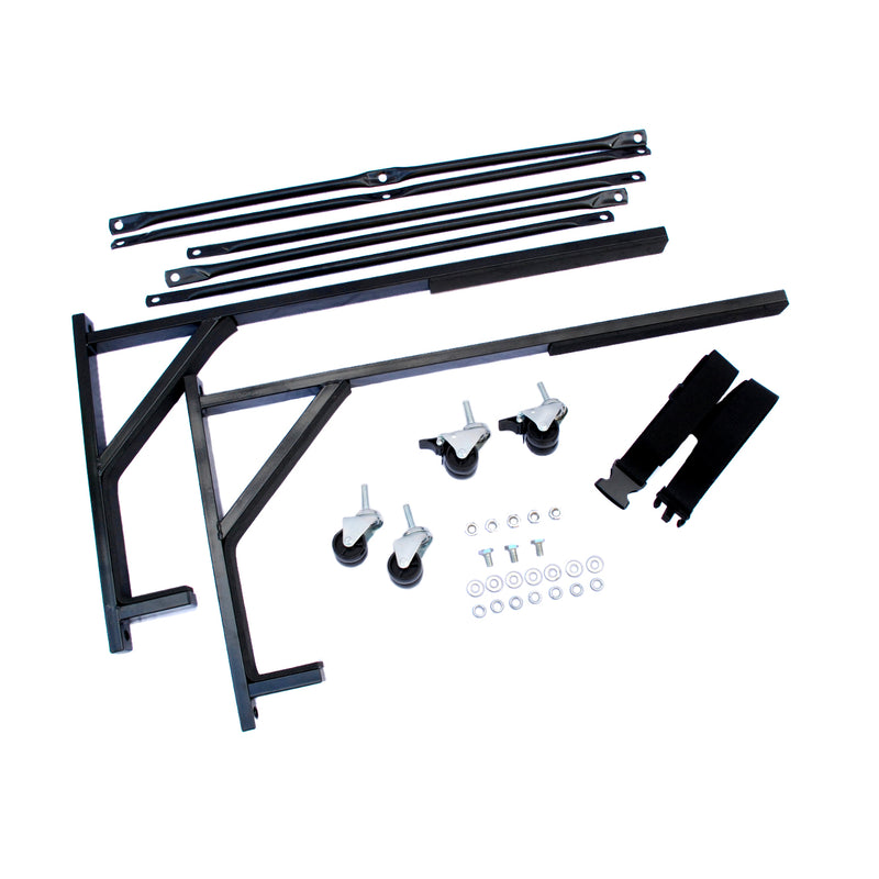 Triumph Spitfire Heavy-duty Hardtop Stand Trolley Cart Rack (Black) with Securing Harness and Hard Top Dust Cover