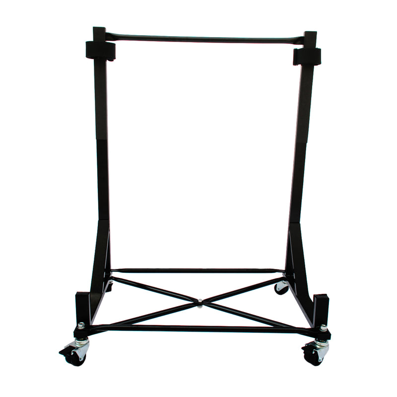 Austin Healey Heavy-duty Hardtop Stand Trolley Cart Rack (Black) with Securing Harness and Hard Top Dust Cover