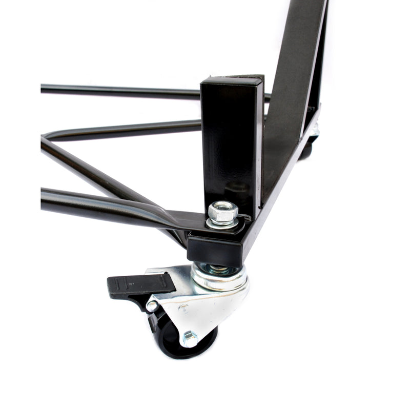 Mercedes R129 SL Heavy-duty Hardtop Stand Trolley Cart Rack (Black) with Securing Harness and Hard Top Dust Cover