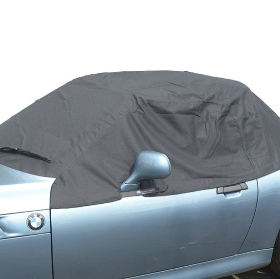 Soft Top Roof Protector Half Cover for BMW Z3 - 1995 to 2002 (100) - BLACK