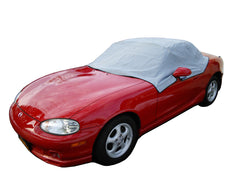 Mazda Miata MX5 Mk1 Mk2 Mk2.5 Soft Top Roof Protector Half Cover - 1990 to 2005 (113G) - GREY
