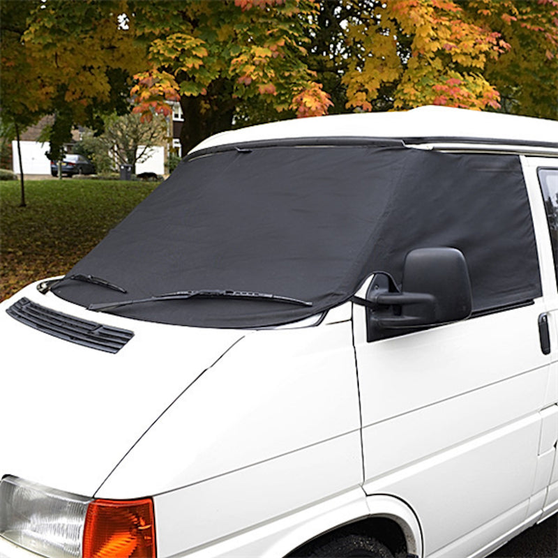 Screen Wrap Frost Cover for VW Bus Camper EuroVan Post-Type 2 T4 - BLACK - 1990 to 2003 (117B)