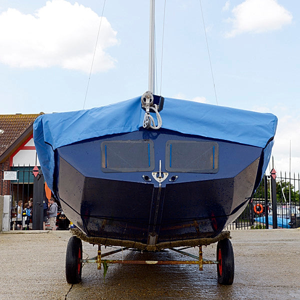 Enterprise Dinghy Deck Cover - Tailored, Waterproof Overboom Boat Cover - Blue (126B)