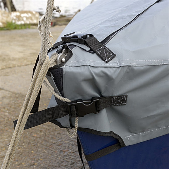 Enterprise Dinghy Deck Cover - Tailored, Waterproof Overboom Boat Cover - Grey (126G)
