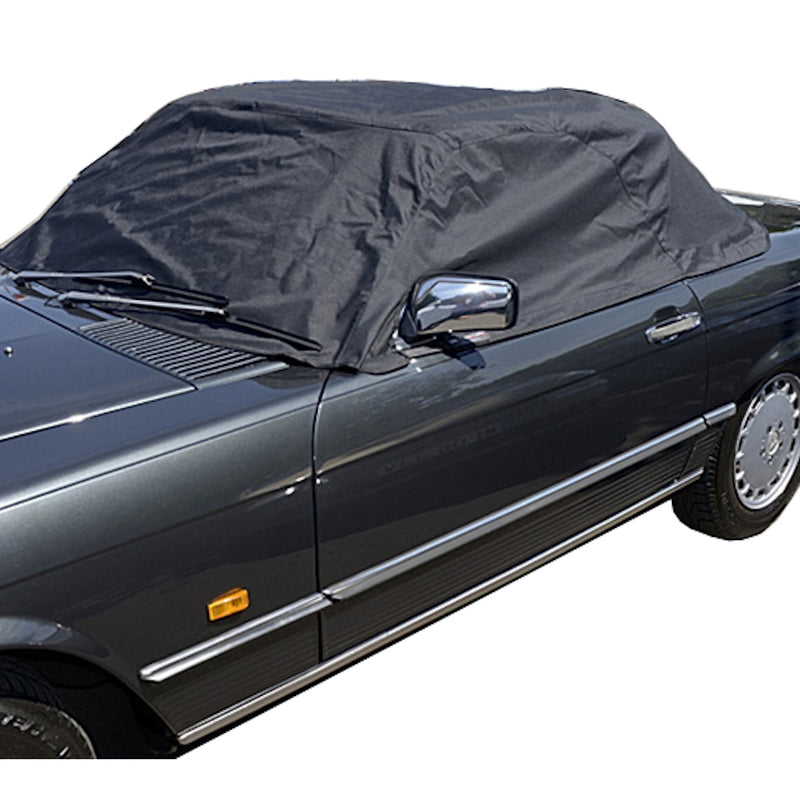 Soft Top Roof Protector Half Cover for Mercedes R107 (SL Class) - 1971 to 1989 (133 - BLACK