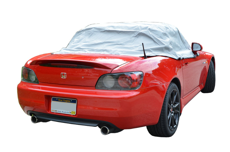 Soft Top Roof Protector Half Cover for Honda S2000 - 1999 to 2009 (134G) - GREY
