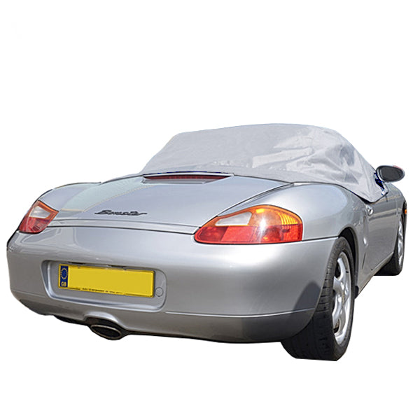 Soft Top Roof Protector Half Cover for Porsche Boxster 986 - 1997 to 2004 (145G) - GREY