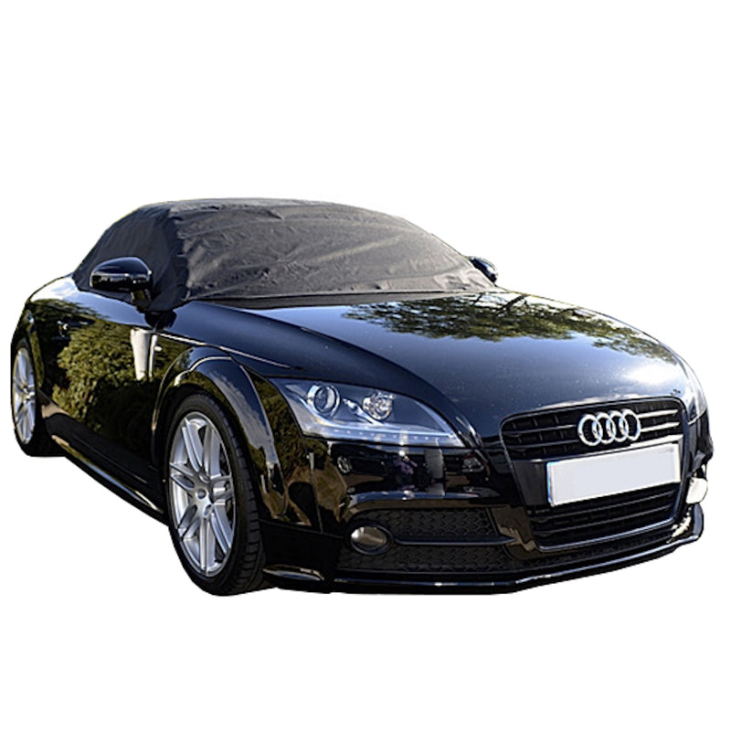 Soft Top Roof Protector Half Cover for Audi TT - Mk2 (Typ 8J) 2006 to 2014 (238) - BLACK