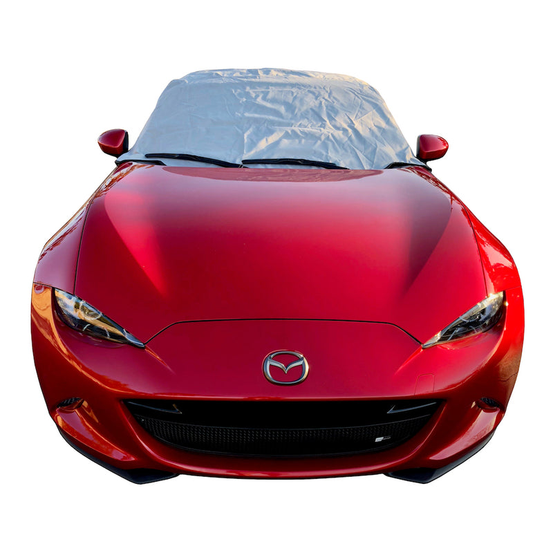 Soft Top Roof Protector Half Cover for Mazda Miata MX5 Mk4 (ND) - 2015 onwards (262G) - GREY