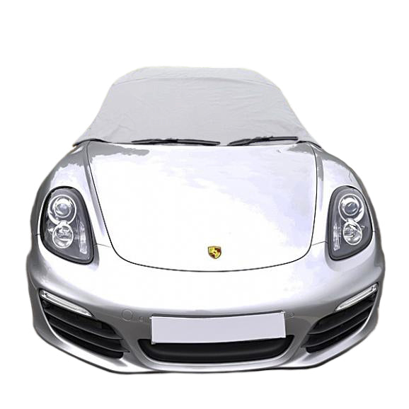 Soft Top Roof Protector Half Cover for Porsche Boxster 981 - 2012 to 2016 (288G) - GREY